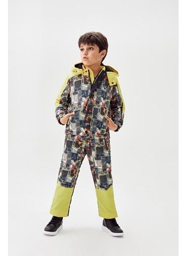 Nebbati Erkek Çocuk Desenli Kayak Takımı Renkli